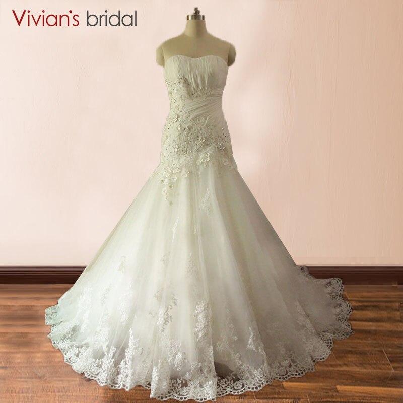 Cheap White Ivory Wedding Dresses Mermaid Lace Appliques: Aliexpress.com : Buy White Ivory Mermaid Lace Wedding