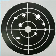 New 50 PCs Shooting Targets Reactive Splatter Glow Florescent Paper Target for Hunting Archery Arrow Training Shoot Accessories