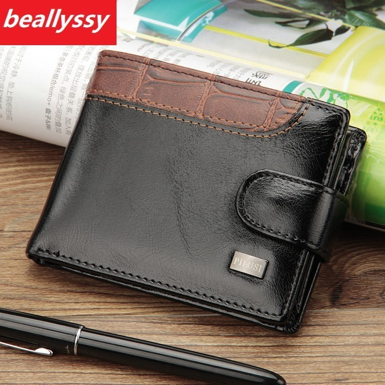 Luxury Brand Short Clutches Male Card Holder Small Fashion Men Wallet Man Purse For Coin Carteras Money Bag Slim Hasp Mini Walet