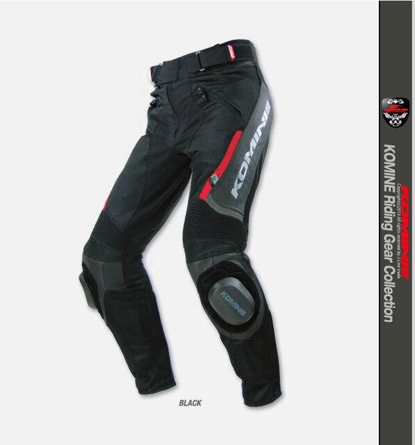 Komine PK - 717 verano de malla de tela + pantalones de cuero pantalones de montar motocicleta 2 color