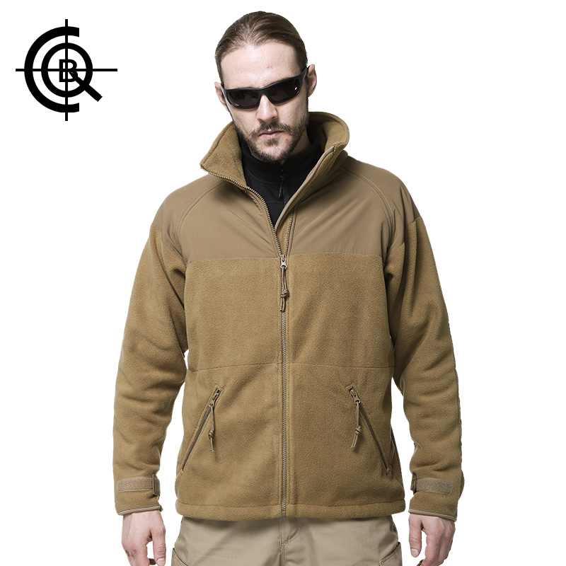 CQB Brand Tactical Jacket Male Hiking Outdoor Sport Trekking Thermal Climbing Jackets Men Military Hunting Fleece Clothes SY013
