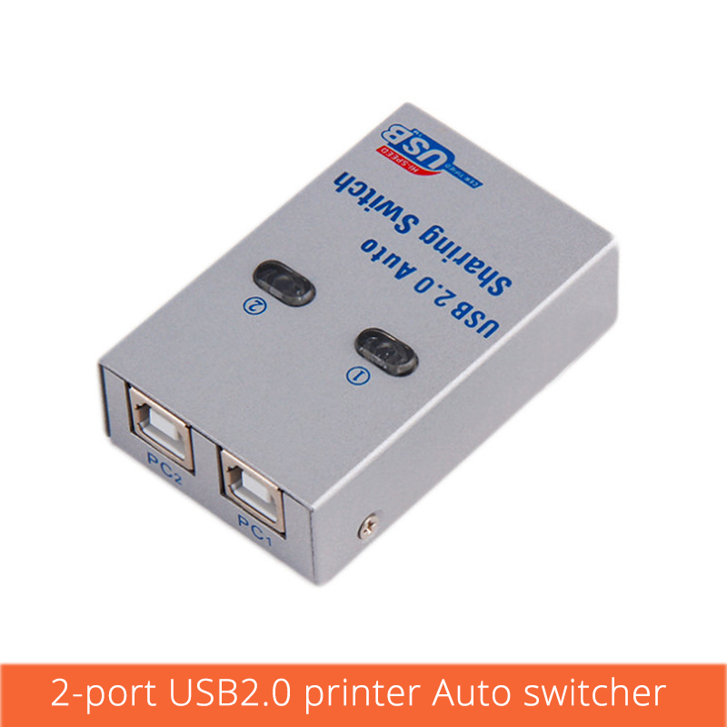 2 Port Usb Switch Printer Sharing Splitter Computer Peripherals For 2 Computer Printer For Office Home  Use Usb2.0 Hub