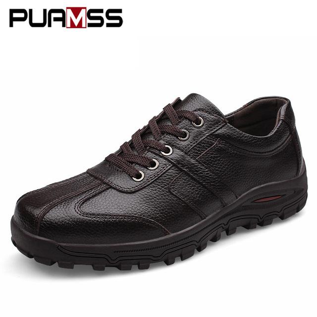 Brand Men Casual Shoes Genuine Leather Men Flats Soft Oxford Shoes Outdoor Top Quality Men Formal Shoes Plus Size 46 47 48