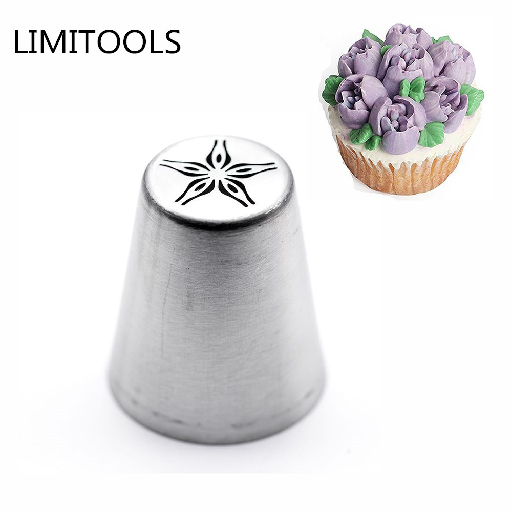 LINSBAYWU Russian Tulip Flower Cake Icing Piping Nozzles Decorating Tips Baking Tool #9
