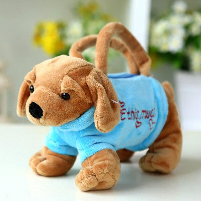 Kindergarden Bag Children Plush Backpack toy handbag dog toy kids cute  cartoon purse bag birthday gift Baby School Animal BagY16 0990274b50ee4