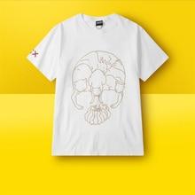 Quality 100% cotton Black/White Skateboard Streetwear Printed O-neck T-shirt Men Rock Tee Shirt Hiphop clothes Sleeve Sportswear