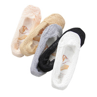 5 Pair Women Fashion Low Cut Lace Slippers Socks Ladies Girls Shoe Liners Footsie Invisible Skin