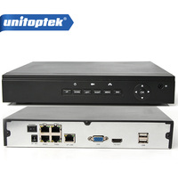 HOT POE NVR 4CH Onvif Recorder Full HD 1080P 48V Real PoE NVR All In One