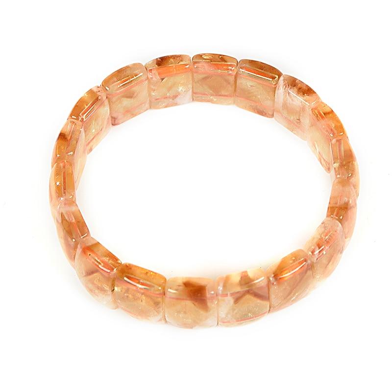 Topaze jaune lisse 11x17mm pyramide cristal 6mm épaisseur adapté pour bracelets porte-bonheur 7.5 pouces pour vos Parents cadeaux H199