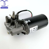 50RPM GW70105 dc 24 v 8N.m 6.5 A low speed high torque worm gear reducer motor, wiper, barbecue grill motor right Thread shaft