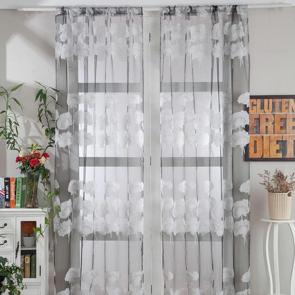 1 Pcs Blätter Tüll Tür Fenster Vorhang Drapieren Panel Sheer Schal Schabracken Hohe Qualität Home Dekorative Dekoration Ornamente #008 Um Jeden Preis