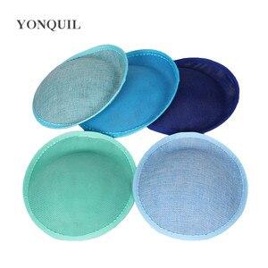 Image 3 - 20 ซม.เลียนแบบSINAMAY fascinatorฐานทำหมวกDIY millineryค็อกเทลHeadwearงานแต่งงานทรงผม 22 สีสำหรับเลือก