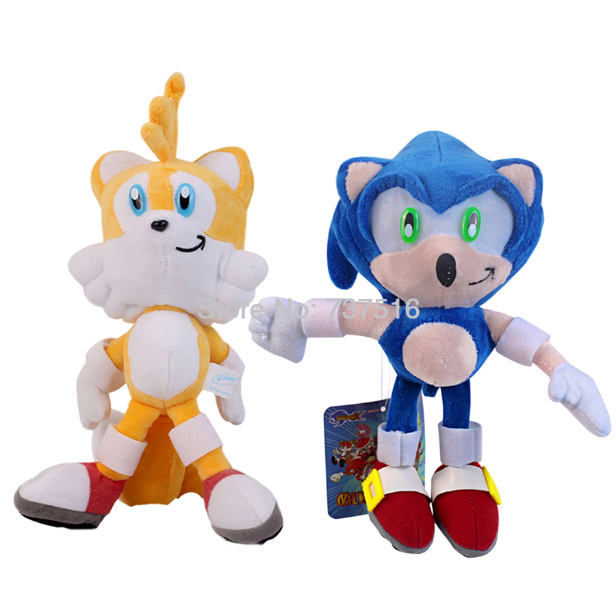 New Cute Blue Sonic The Hedgehog Red Knuckles the Echid Yellow Tails ...