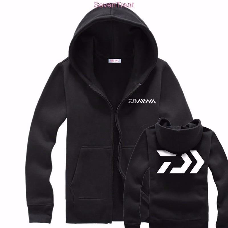 Daiwa осень-зима теплый мужской 2 цвета Для мужчин Рыбалка одежда свитер на молнии куртка-рубашка Спорт на открытом воздухе Рыбалка куртка с капюшоном