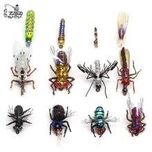 Colección de moscas para pesca de trucha, moscas realistas, ninfas secas y húmedas, Streamers Fly 12 Uds Flys, equipos de cebos