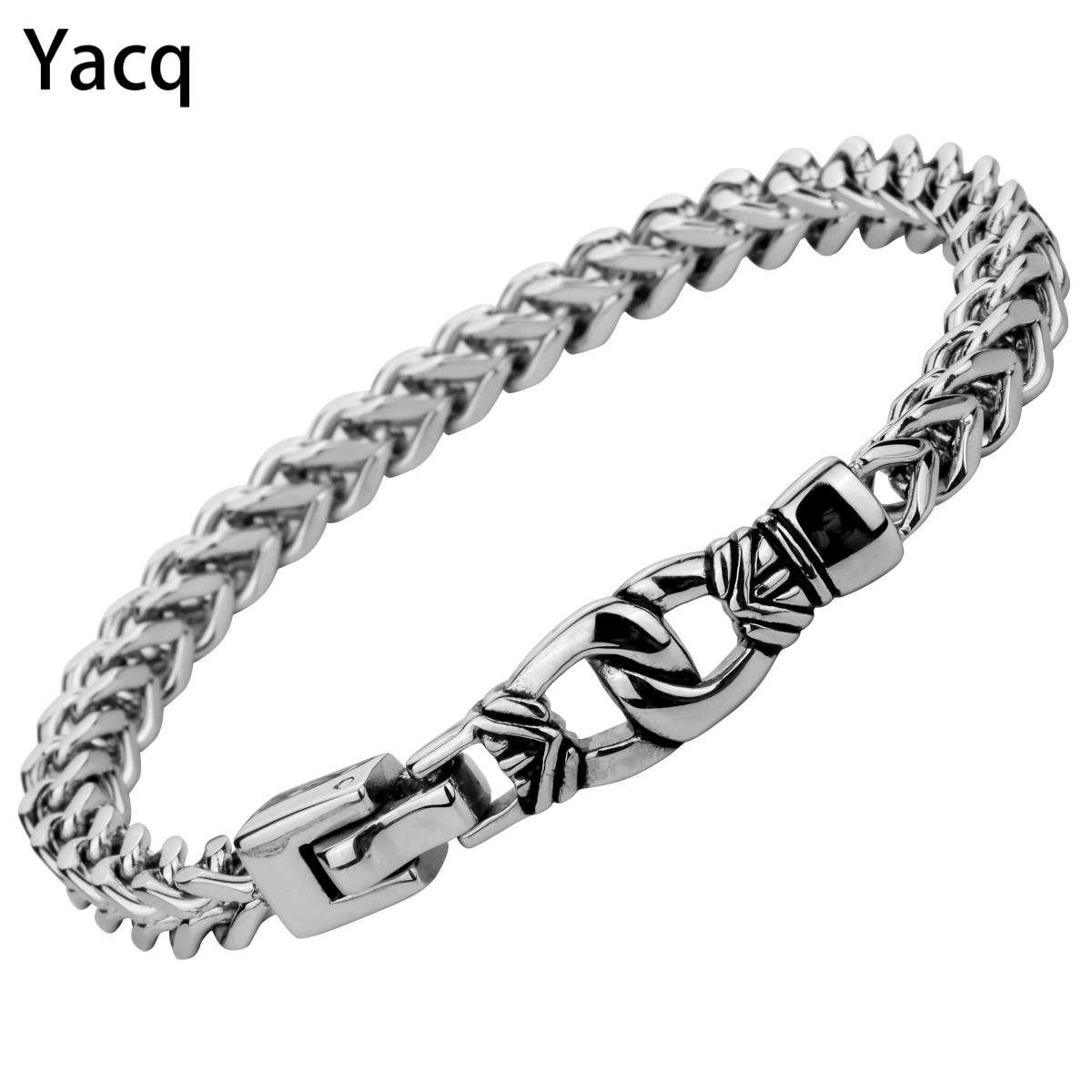 Mens Stainless Steel Chain link Bracelet Biker Heavy Jewelry Fathers Day Gifts for Dad Him Boyfriend dropshipping 8.5