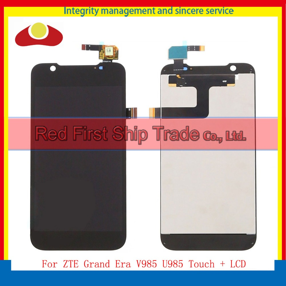High Quality For ZTE Grand Era V985 U985 Full Lcd Display With Touch Screen Digitizer Assembly Complete Black Free Shipping