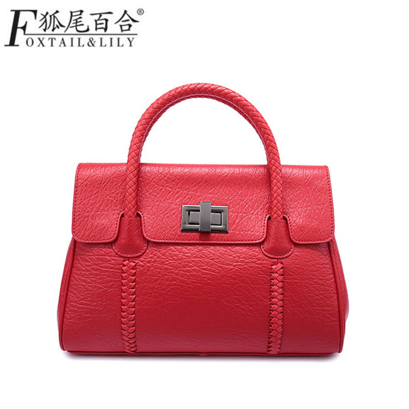 Women Leather Handbags Messenger Bags Sac a Main Femme De Marque Bolsa Feminina Bolsas Bolsos Mujer Tote Shoulder Bag Cow Tassen hongu genuine leather shoulder messenger bags for women pillow shape sac a main femme de marque luxe cuir 2017 black pink online