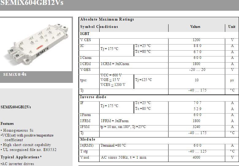 Free Shipping SEMIX604GB12VS New Module