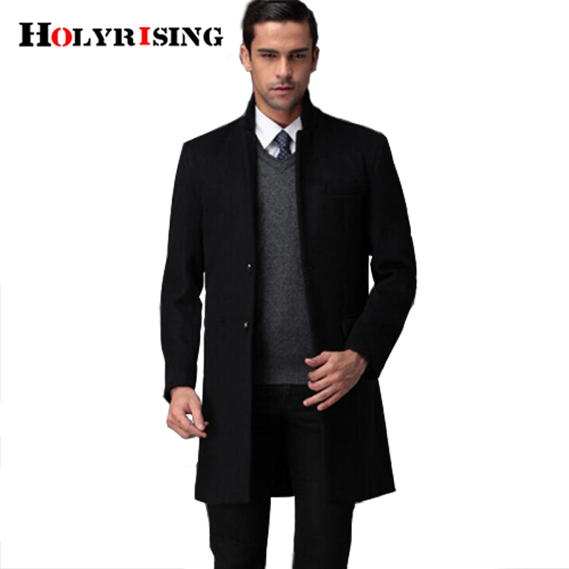 9XL size new winter slim jacket men's wool blends coat male casual coat high quality pluse size windbreaker Holyrising