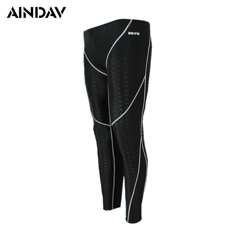 Professional Swimming Pants Men Swimwear Long Swimming Trunks Man Swimsuit Men's Tights Beach Sport Swim Wear Bathing Suits