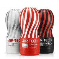 Original Tenga Air tech Reusable Vacuum Sex Cup Soft Silicone Vagina Real Pussy Sexy Pocket Male Masturbator Cup Sex toys