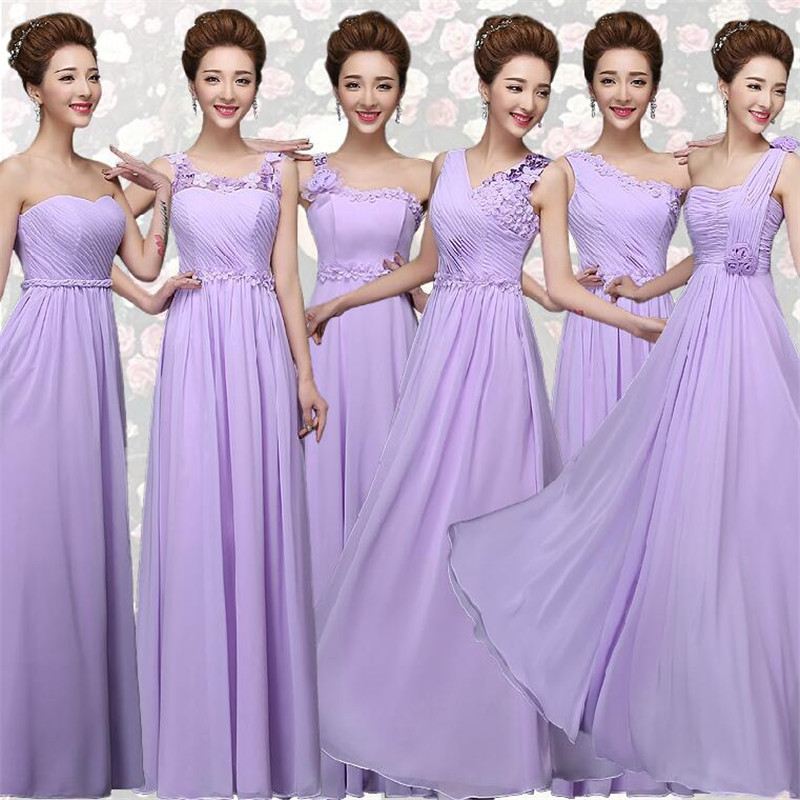 Vestidos De Novia Pastel Wedding Sisters Long Liques Purple And Lavender Bridesmaid Dresses Sweet Beautiful Plus Size In From Weddings