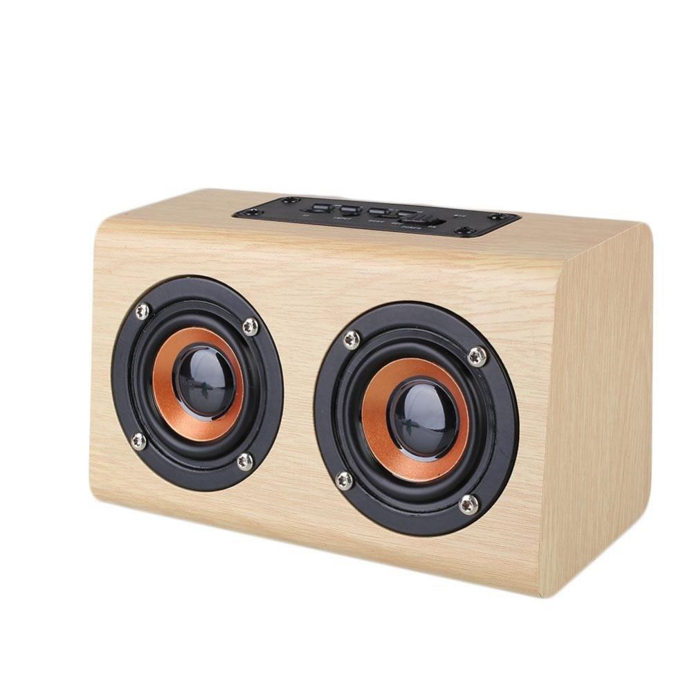 Avanshare Leseni Bluetooth zvočnik Retro Wood HIFI 3D Dvojni - Prenosni avdio in video - Fotografija 2