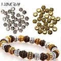 Wholesale 100pcs Tibetan Silver Spacer Beads Round Wheel Metal Spacer Beads Charm 6mm for Jewelry Making Fast Shipping