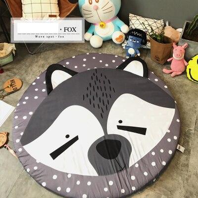 Ins chaud nordique belle couverture de bande dessinée jeu tapis de jeu lapin bébé ours renard Animal tapis enfants salon chambre collalily