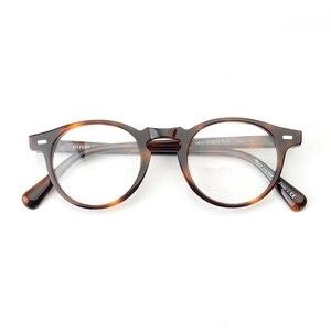 Image 5 - Gregory peck ov5186 vintage óculos mulher quadro claro óculos redondos homens armação óptica para prescrição lente óculos redondos