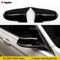 F20 Plastic Mirror cover For BMW 1 Series Hatchback 116i 118i 120i 125i M135i M140i 2012 2018 year Car Black rear mirror cap