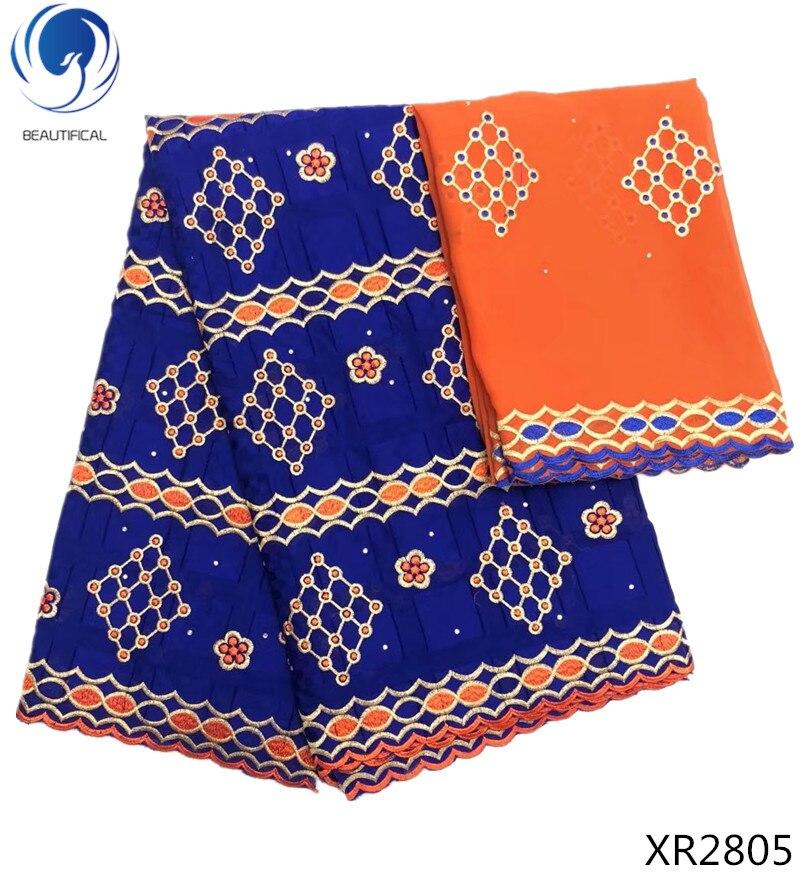 BEAUTIFICAL африканская шаль швейцарское хлопчатобумажное Кружево Ткань 5 ярдов в нигерийском стиле Человек кружевная вуаль матч 2 ярдов шифонов