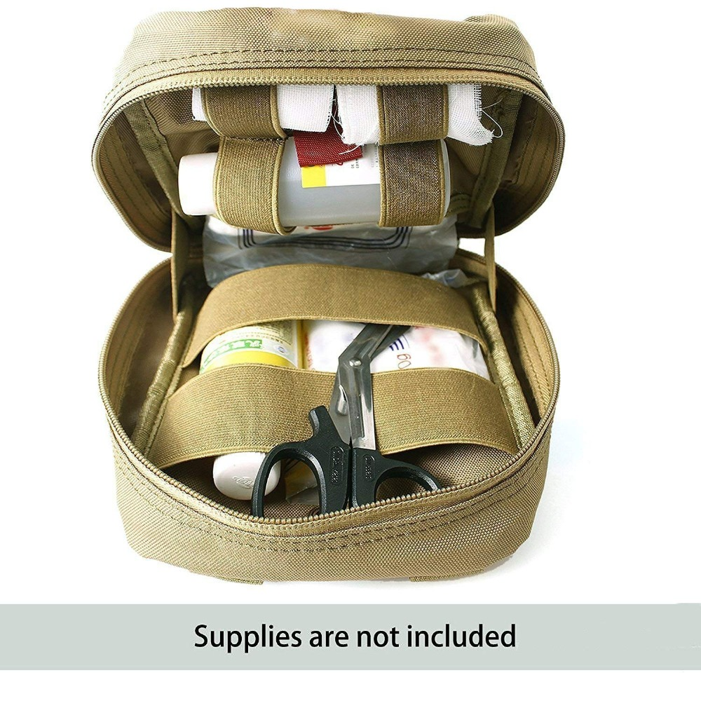 7 Color Outdoor Molle System Military First Aid Kit Sport Medical Pouch  Carry Hunting Sling Tactical Bag
