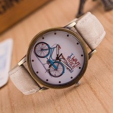 Top Brand Bicycle Pattern Sport Men Watches Casual Leather Women Watch Quartz Wristwatches Clock Relogio Masculino