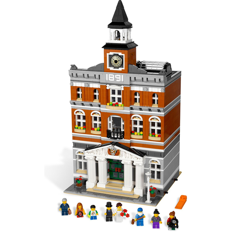 Lepin 15003 Town Hall building bricks blocks Toys for children boys Game Model Car Gift Compatible with Bela 10224 lepin 15003 2859pcs city creator town hall sets model building kits set blocks toys for children compatible with 10024