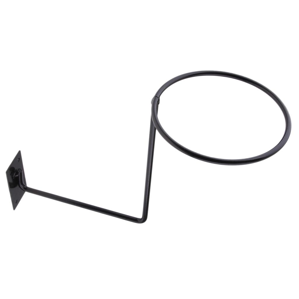 Aluminum Motorcycle Accessories Helmet Holder Hanger Rack Wall Mounted Hook for Coats Hats Caps Helmet Rack Black