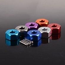 Nova enron 4 p alumínio 12mm roda hex & pino 5mm espessura para rc 1/10 tamiya cc01 CC-01