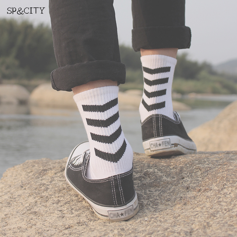 Badge Patterned Funny Short Socks Mens Cool Funny Skateboard Short Harajuku Socks Male Hipster Art Cotton Socks Fashion Sox
