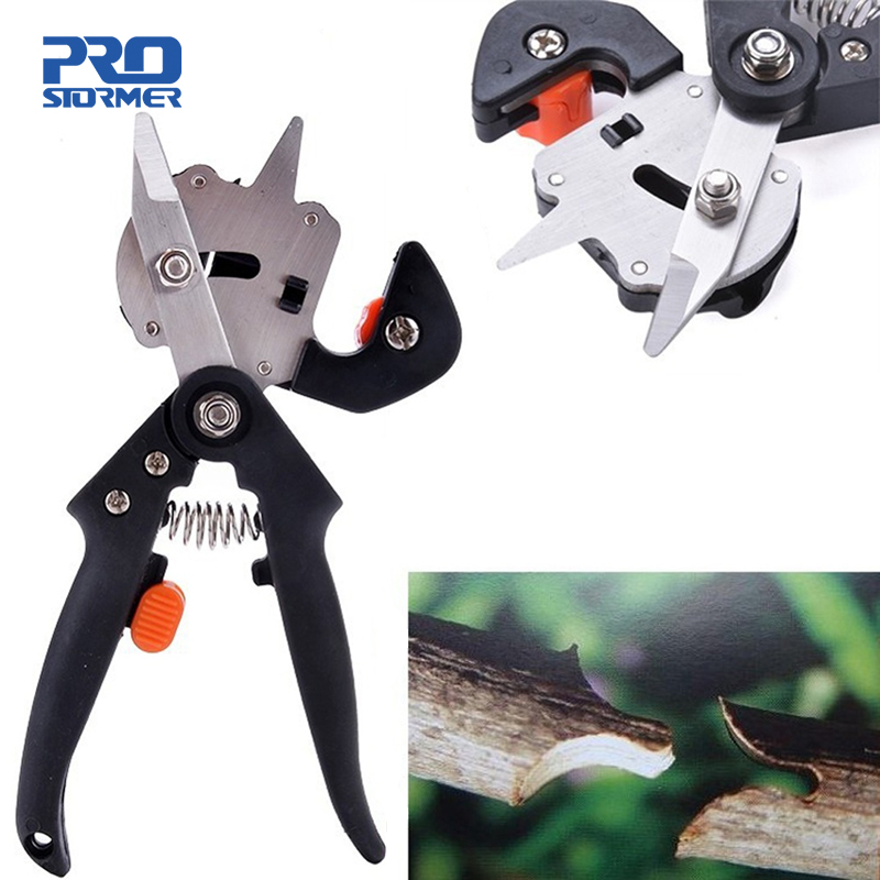 PROSTORMER Vaccination Secateurs Grafting Machine Garden Tools With 2 Blades Tree Grafting Tools Secateurs Scissors Pruner Shear