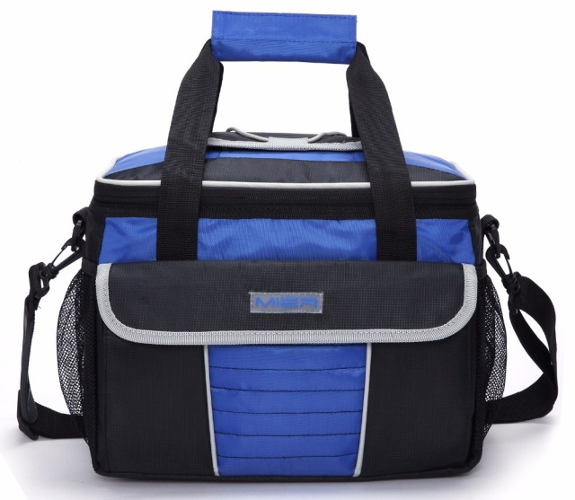 MIER Multiple Pockets Picnic Cooler Tote Soft Cool Bag with Quick Access Lid Large Insulated Lunch Cooler Bag for Men & Women