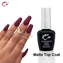 Mate de la Marca TP 1 unid 8 ml Top Coat UV Gel Del Clavo Del LED Proteide Imprimación Soak-Off polaco Clear Color Nail Art Polaco Manicura Herramientas