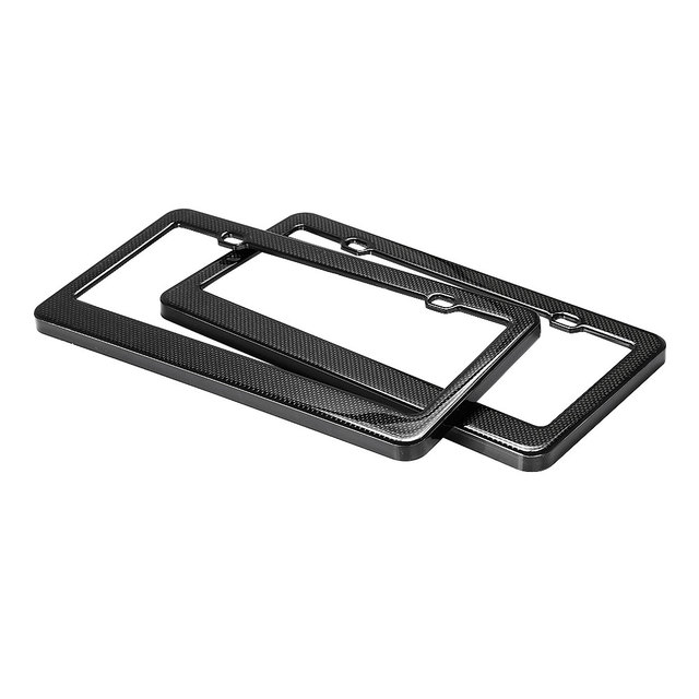 Real Carbon fiber USA/Canada License Plate Frame for Ford Focus 2 3 Volkswagen VW Polo Golf Audi Mercedes Toyota BMW Accessories
