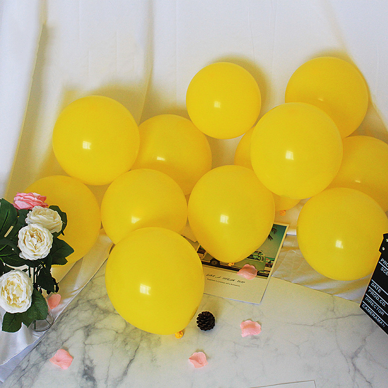 10 pieces of yellow 2.2g latex round balloons 10 inch thick wedding decoration latex balloons birthday balloons