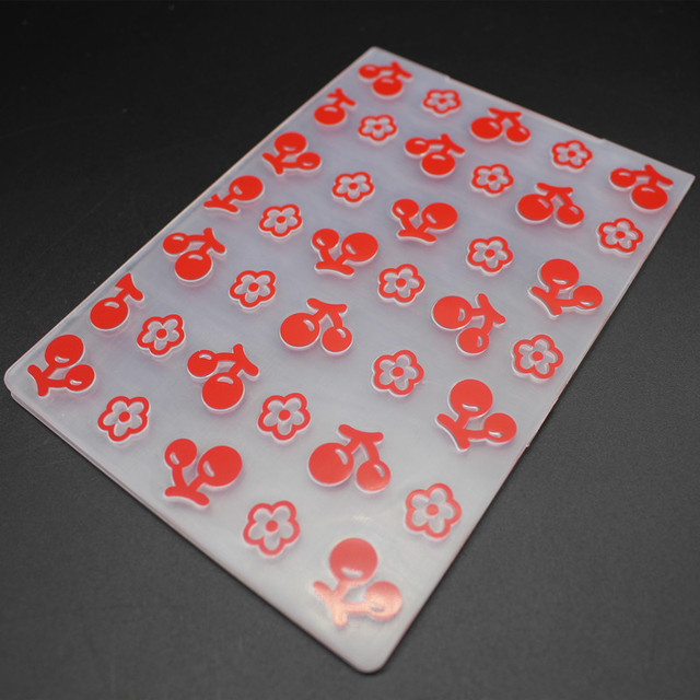 new plastic embossing folder sweet cherry template diy scrapbooking