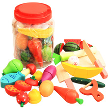 Wooden music cut fruit vegetables and fruits as magnetic toys honestly see boys and girls play children suit