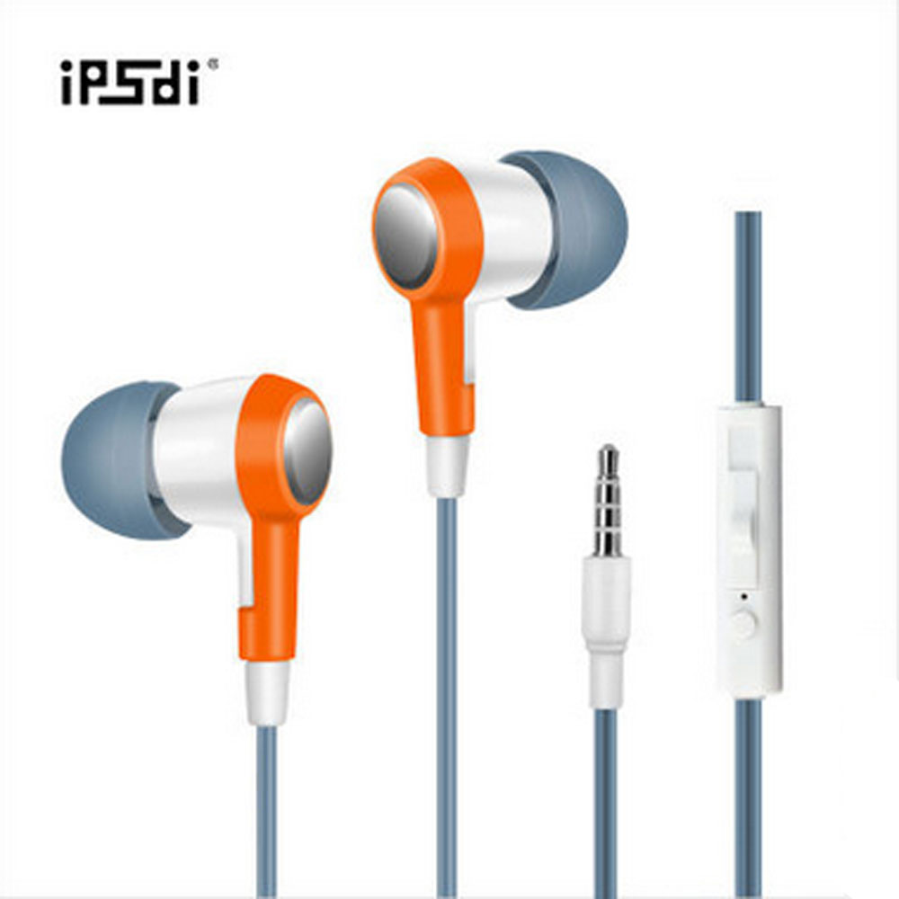 Ipsdi New Earphones 3.5Mm Stereo Bass Mic Noise Cancelling Hifi Earphone In-Ear For Android Phone Iphone Mp3 Player Pc Hf256C brand new mee m6pro top quality earphones hifi noise cancelling bass earphones pk se215 ie800 syllable earphones with retail box