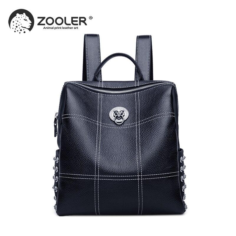 ZOOLER Black Plaid pattern backpacks travel bag large capacity backpack for girls high quality woman bag