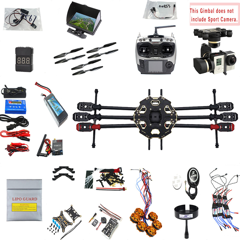 JMT 2.4G 9CH 680PRO PX4 GPS 5.8G Video FPV RC Hexacopter Unassembled Full Kit RTF DIY RC Drone Combo MINI3D Pro Gimbal f15441 g apm2 8 flight control 6m gps gps folding antenna telemetry kit fpv combo 5 8g 250mw for diy fpv rc drone multicopter