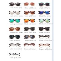 Luxury Vintage Semi-Rimless Sunglasses 5